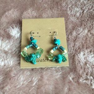 Coldwater Creek Turquoise Earrings NIP